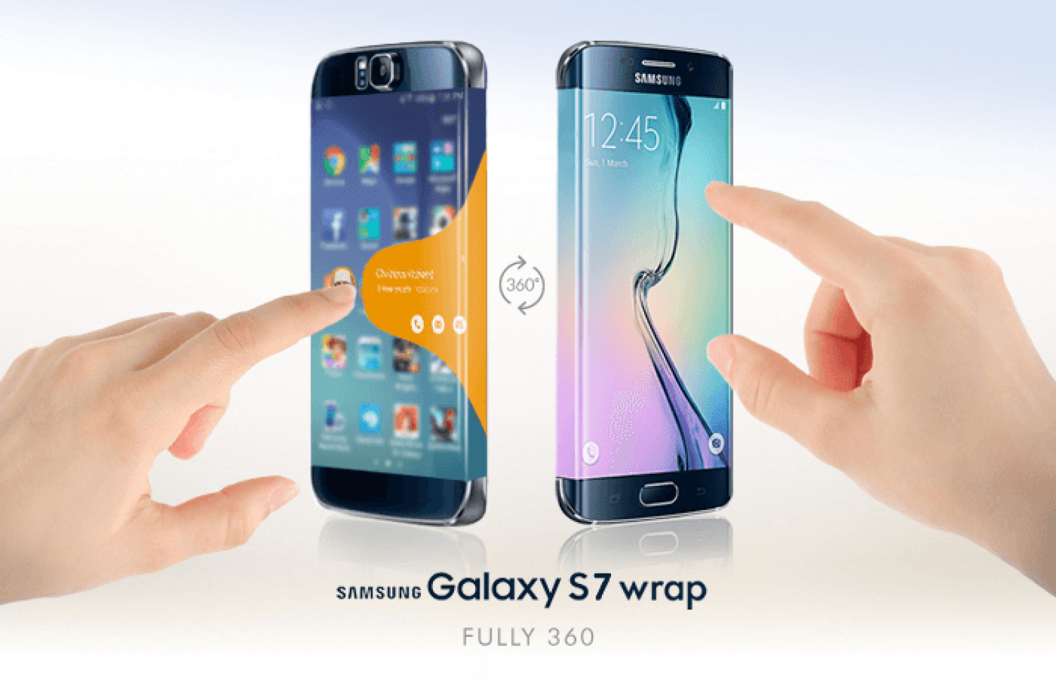 Samsung Galaxy S7 Wrap - The First 360 Degree Screen Device Infographic