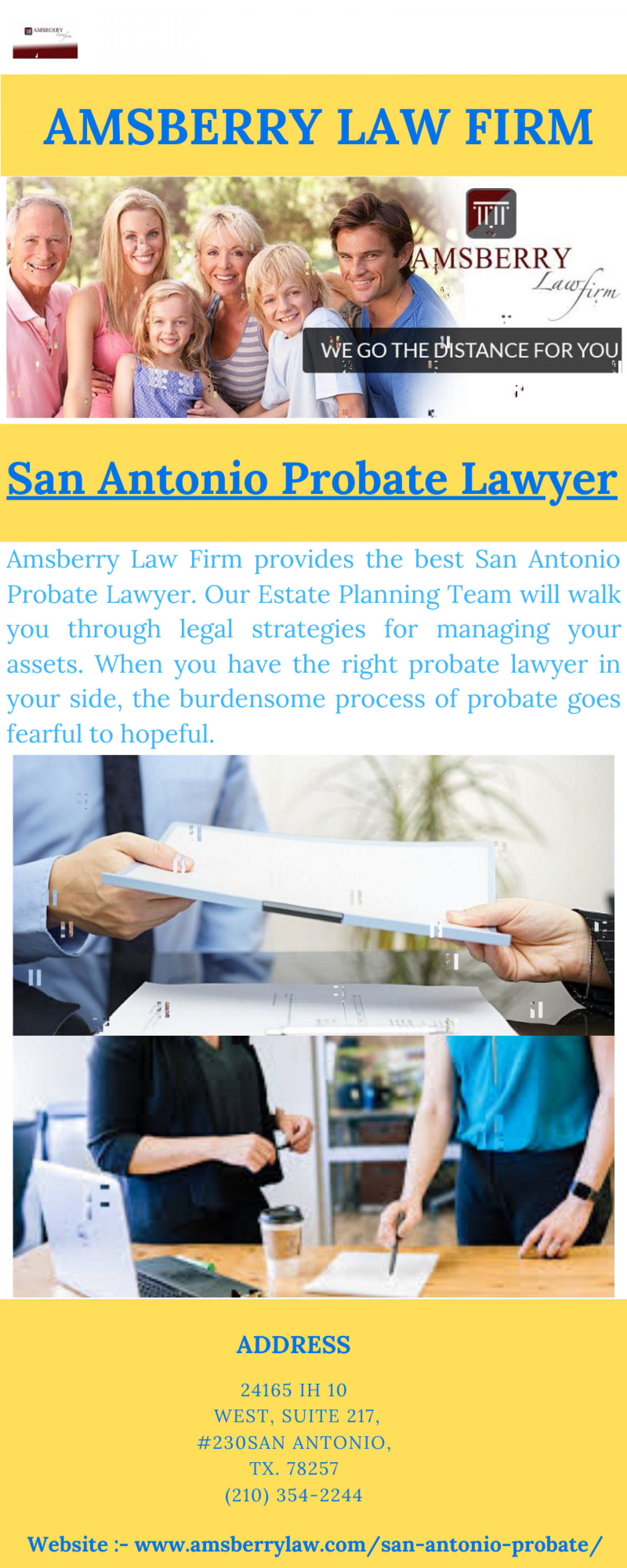 San Antonio Probate Lawyer Infographic