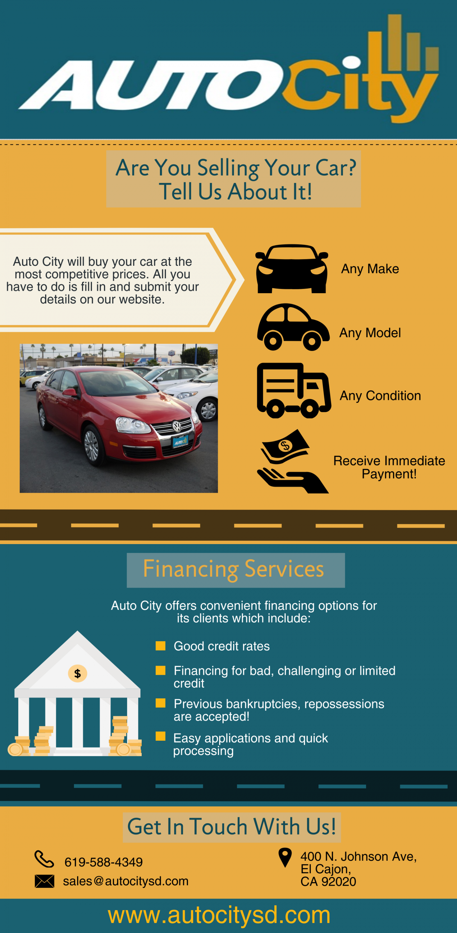 San Diego Car Dealers Infographic