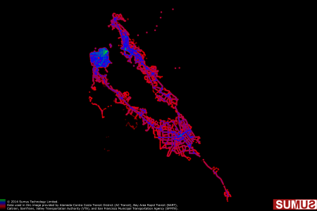 San Francisco Bay Area Transit Coverage Map: May 28th, 2014 Infographic