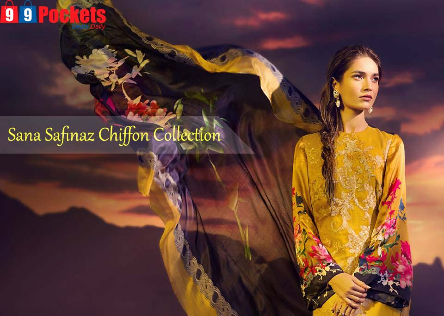 Sana Safinaz Chiffon Collection Infographic