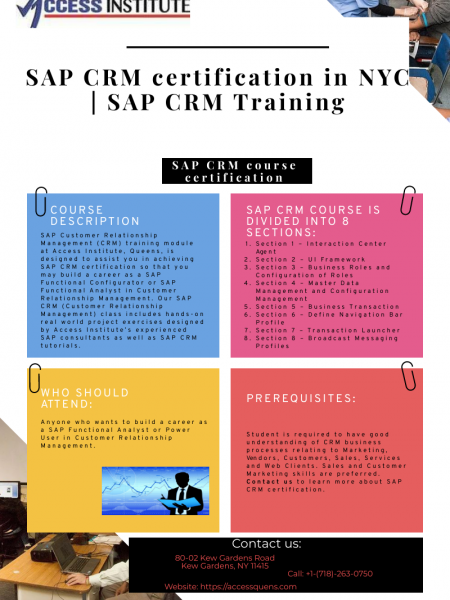 SAP CRM certification in NYC | SAP CRM Training Infographic