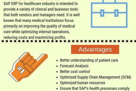 SAP healthcare solutions Infographic