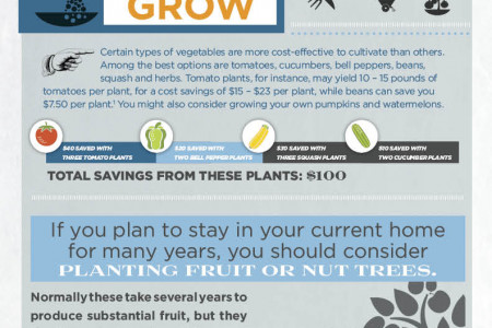 Save $3,700 Challenge - April: Plant a Garden Infographic