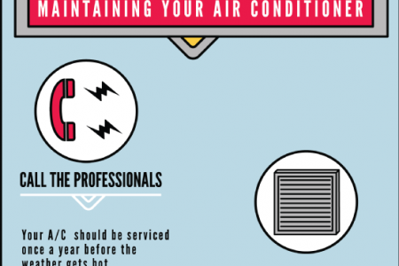Save Money with Air Conditioning Maintenance Infographic