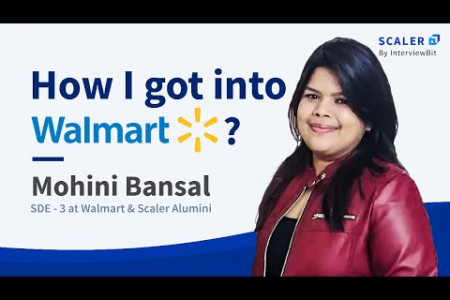 Scaler Academy Review: How I landed an offer from Walmart by Mohini Bansal Infographic