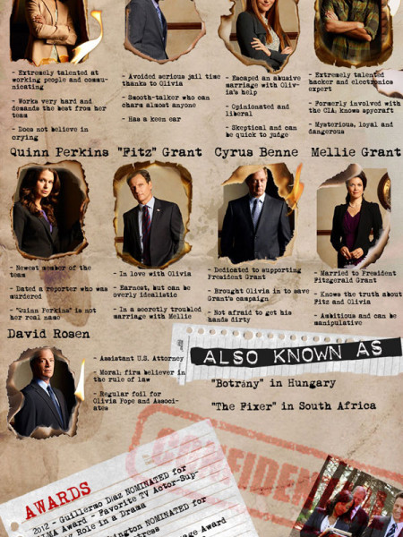 Scandal Info & Trivia   Scandal TV Show Infographic Infographic