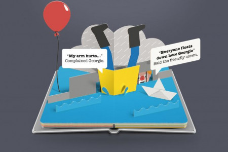 Scary Pop Up Books: It Infographic