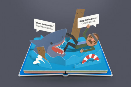 Scary Pop Up Books: Jaws Infographic