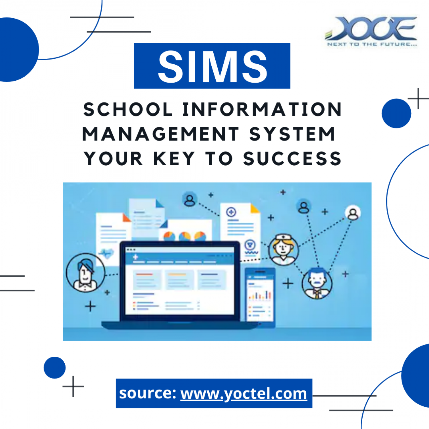 School Information Management system Infographic