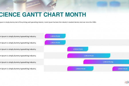 Sciences Gantt Template | Free Download Infographic
