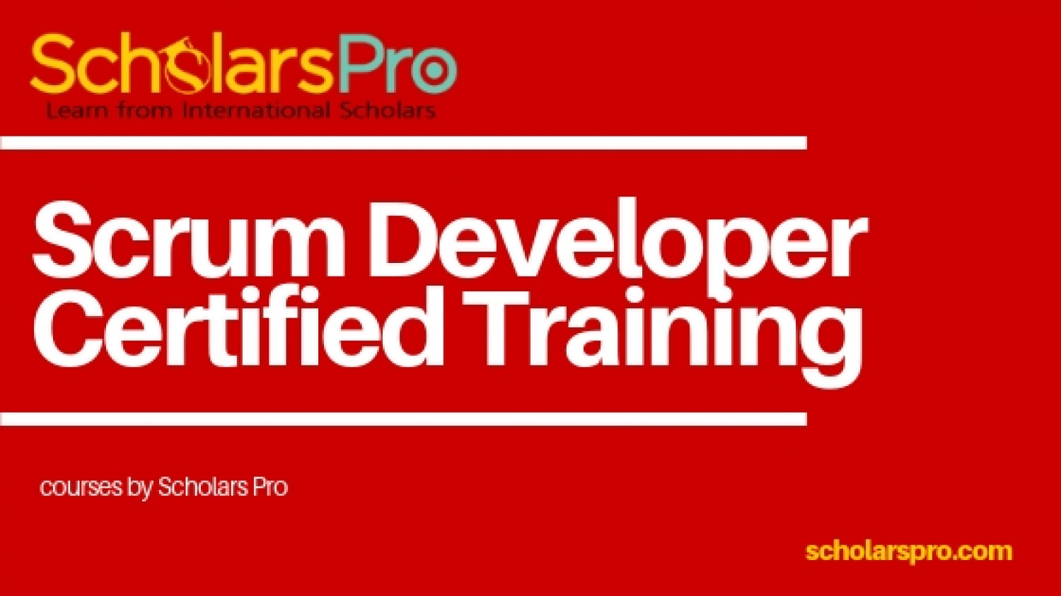Scrum Developer Certified Training Infographic