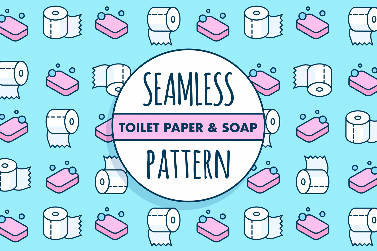 Seamless toilet paper pattern Infographic