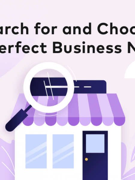 Search for and Choose the Right Business Name Infographic