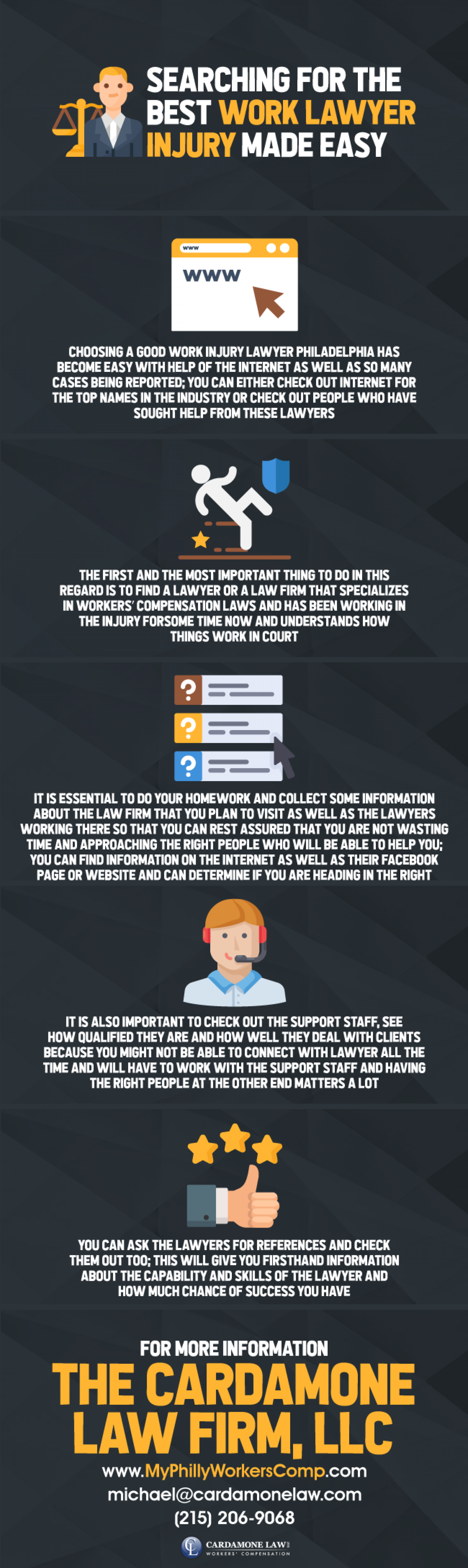 Searching for the Best Work Lawyer Injury Made Easy Infographic