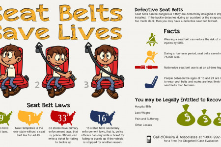 Seat Belts Save Lives Infographic