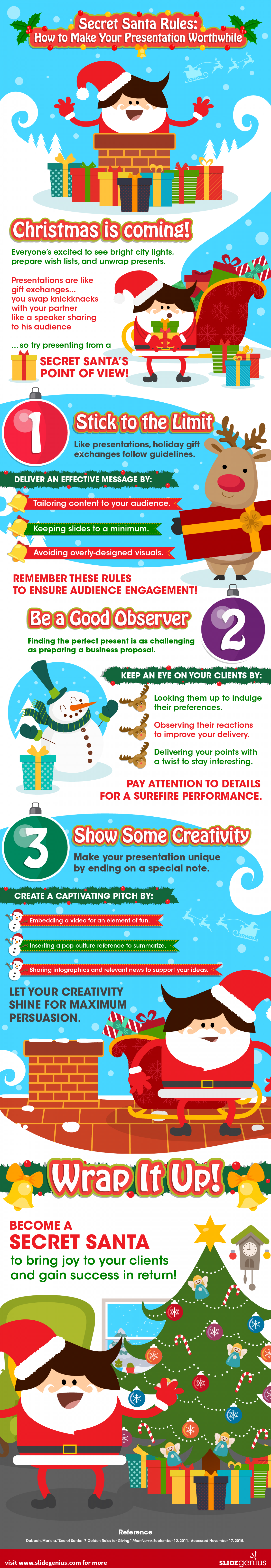 Secret Santa Rules: How to Make Your Presentation Worthwhile Infographic