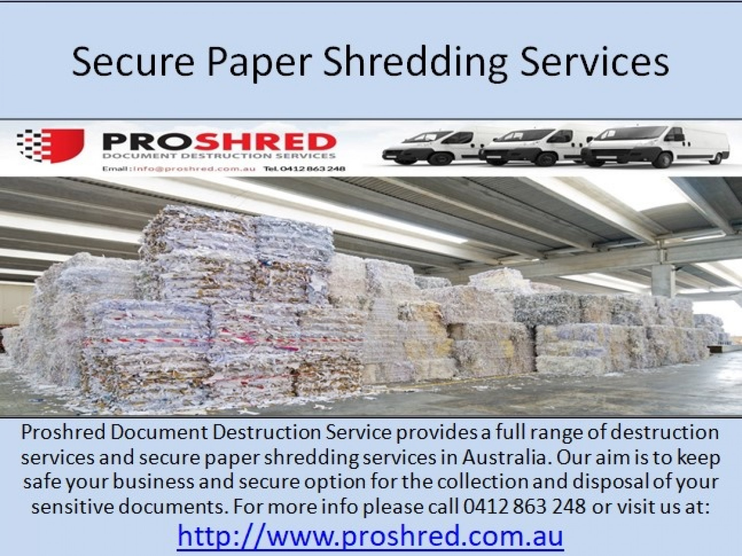Secure Paper Shredding Services Infographic