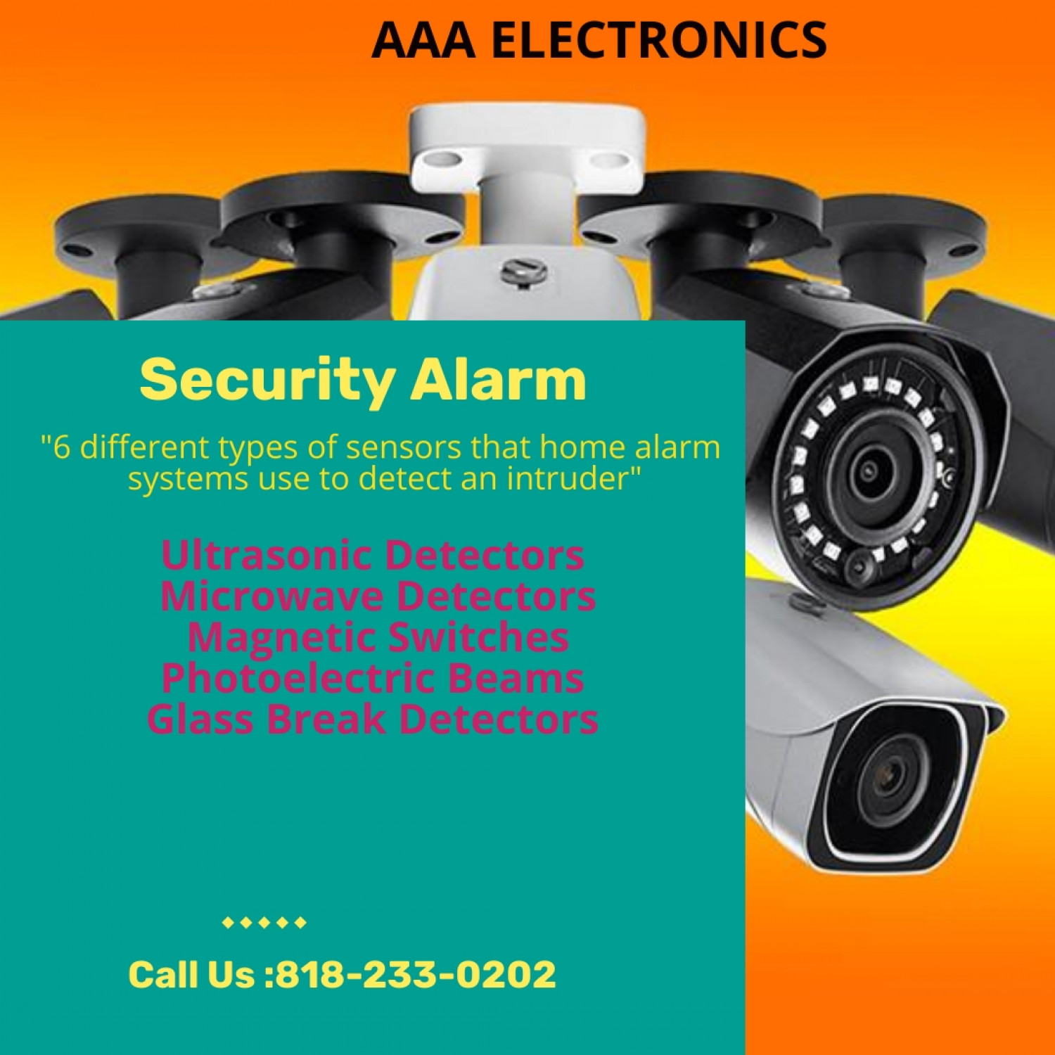 Security alarm - safety tips Infographic