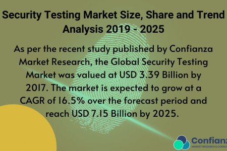 Security Testing Market Size, Share and Trend Analysis 2019 - 2025 I Confianza Research Infographic