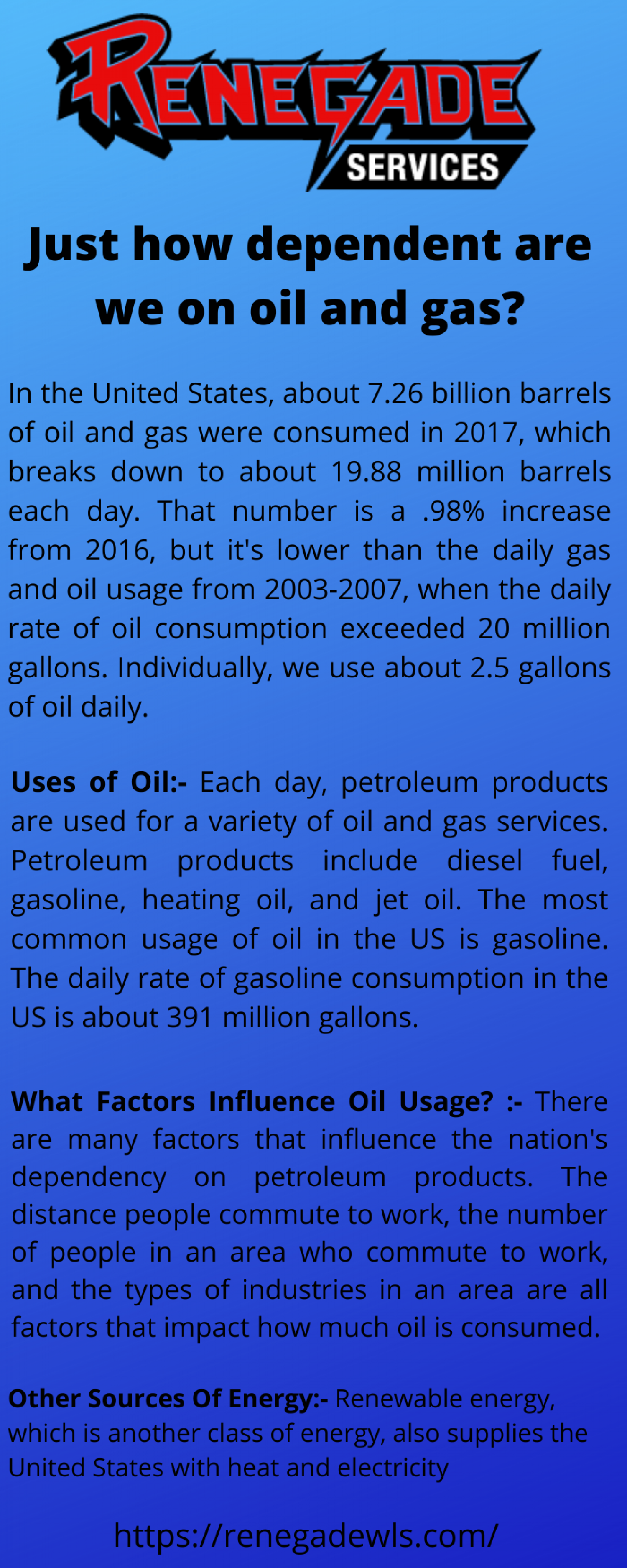 SEE HOW MUCH WE ARE DEPENDENT ON OIL AND GAS Infographic