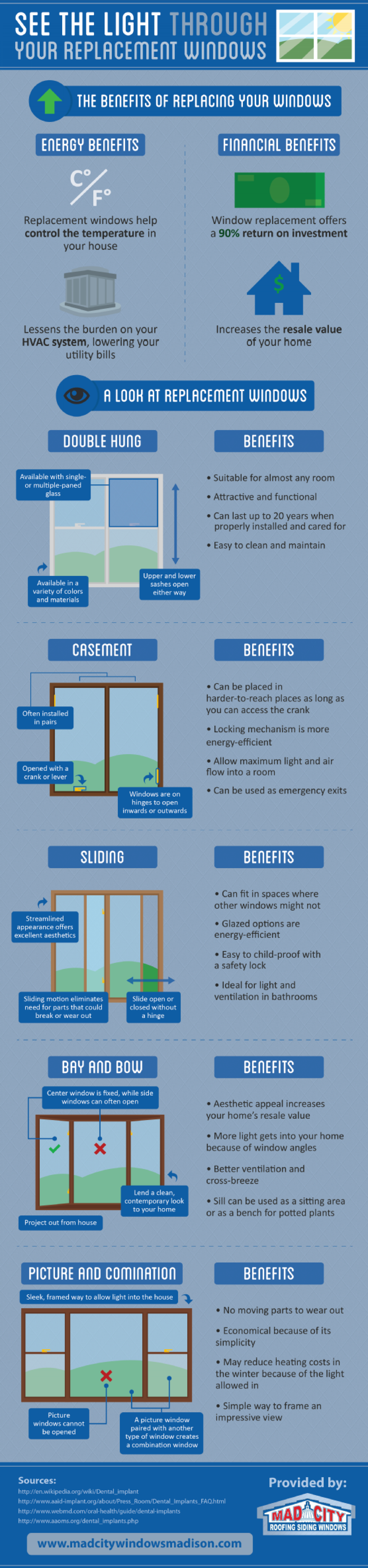 See The Light Through Your Replacement Windows Infographic
