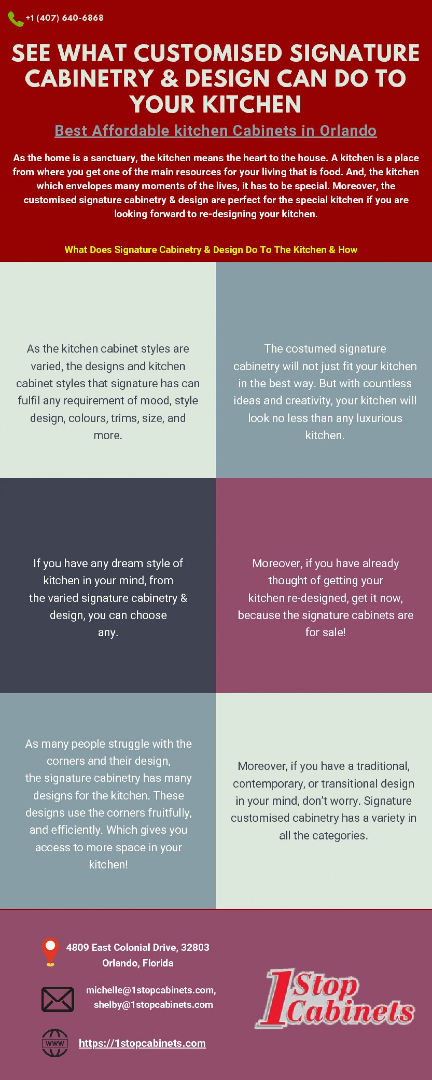See What Customised Signature Cabinetry & Design Can Do To Your Kitchen Infographic