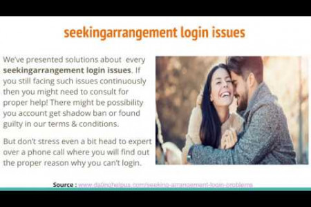 Seeking Arrangement login issues Here's How to fix it  Infographic