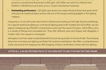 Select LED Troffer Light That Require Less Maintenance Infographic