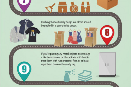 Self Storage Packing & Storage Tips Infographic