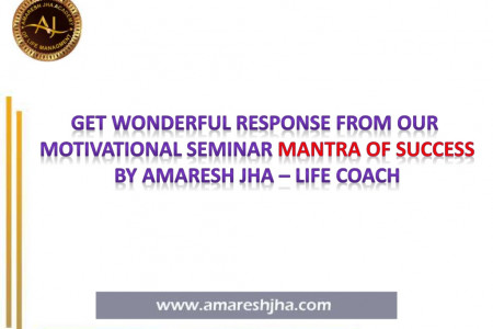 Seminar Mantra of Success in Ranchi by Amaresh Jha | Life Coach Infographic