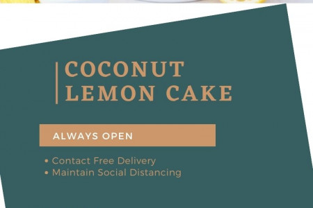 Send 1 kg Coconut Lemon Cake Online to Canada | Gift Delivery Canada Infographic