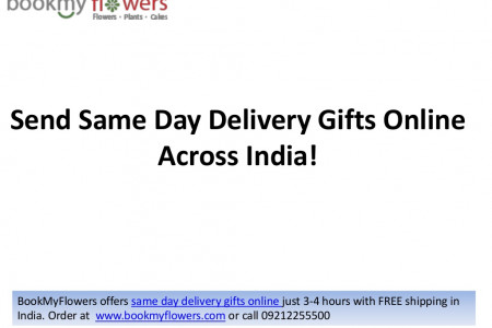 Send Same Day Delivery Gifts Online Across India Infographic