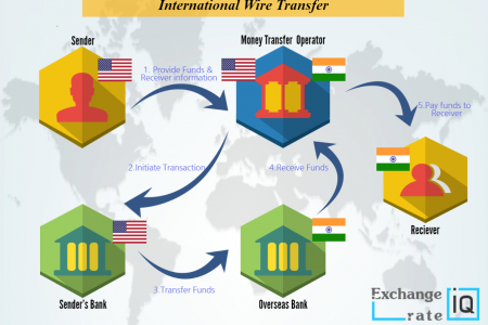 Sending Money with Wire Transfer Infographic