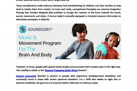 Sensory Integration Therapy Interventions For Appropriate Responses Infographic