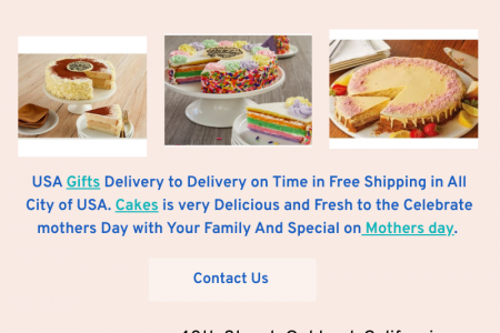Sent Online Mothers Day Cake in USA Infographic
