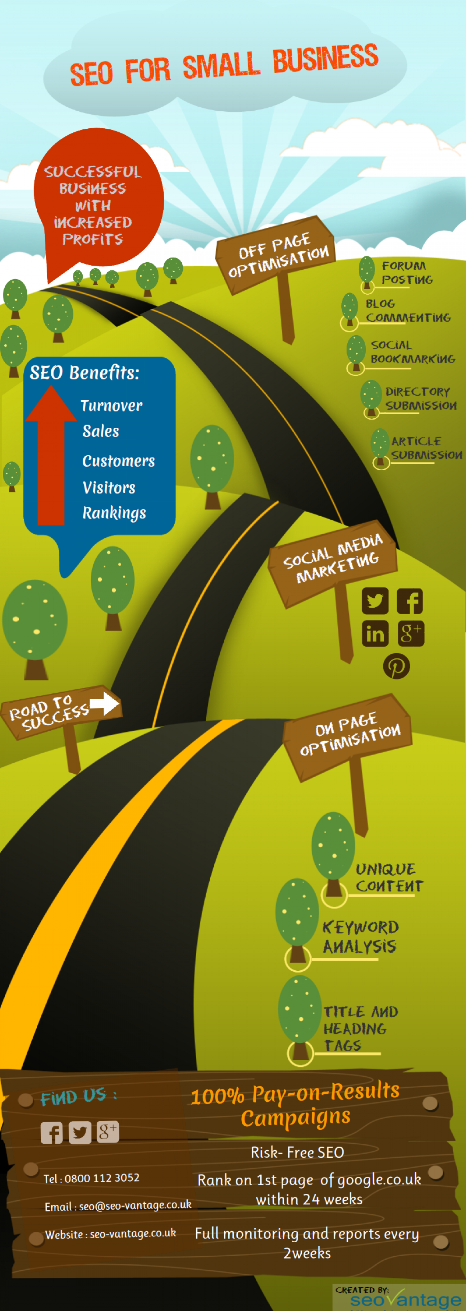 SEO for Small Business Infographic