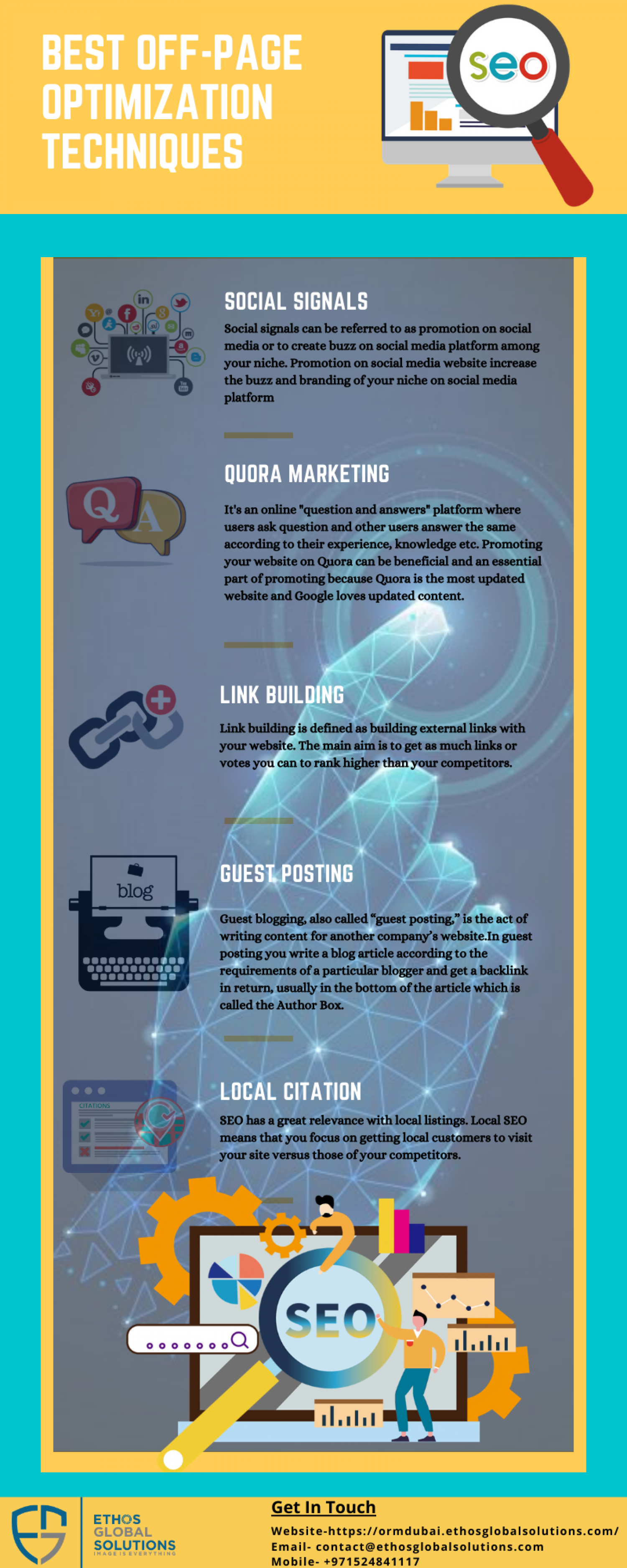 SEO Off-Page Optimization  Infographic