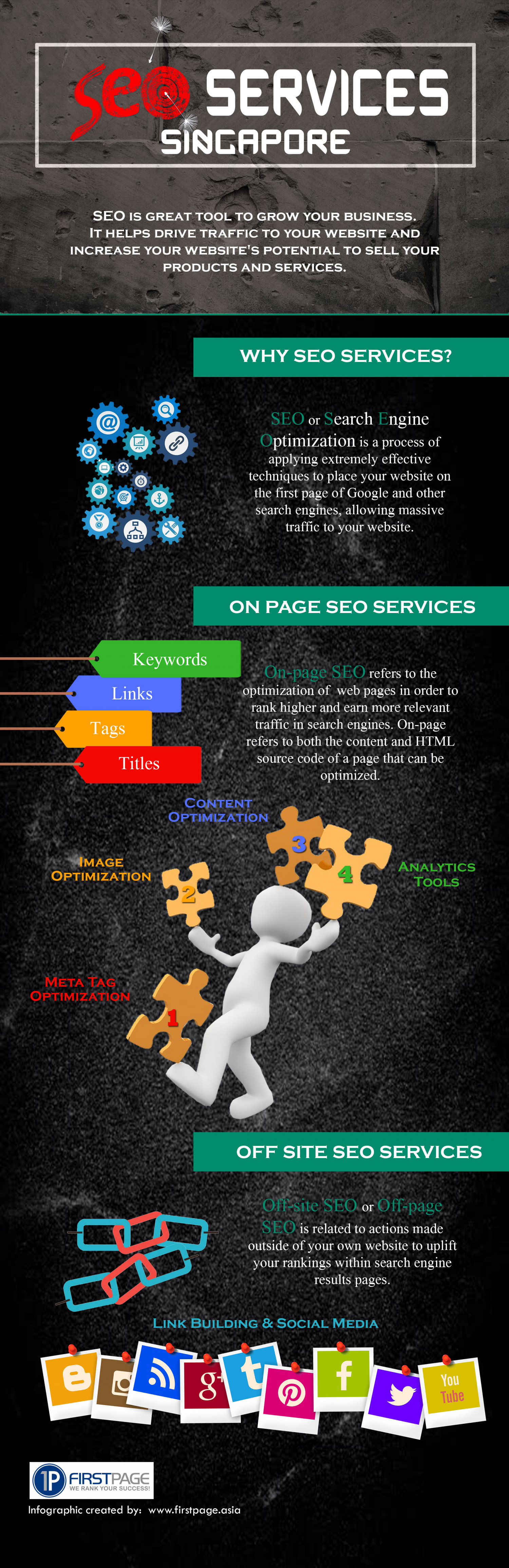 SEO SERVICES SINGAPORE Infographic