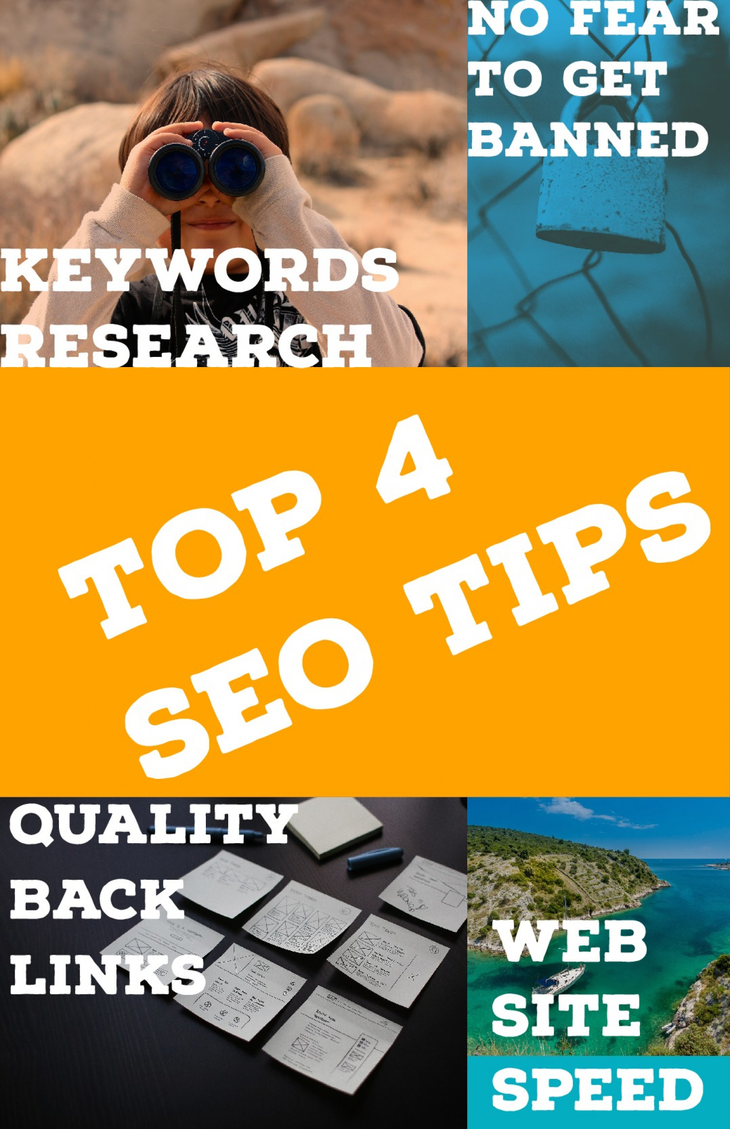 SEO Top 4 Tips to Boost your Business in Year 2019 Infographic