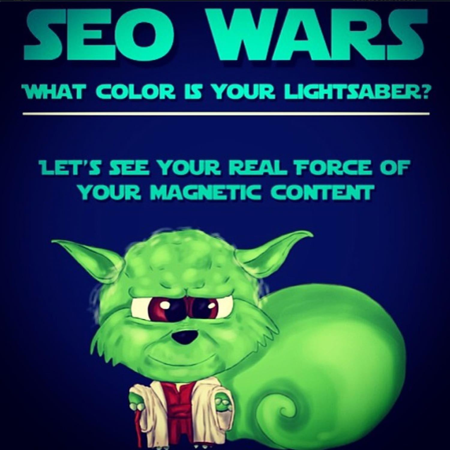 SEO Wars - What Color is Your LightSaber? Infographic