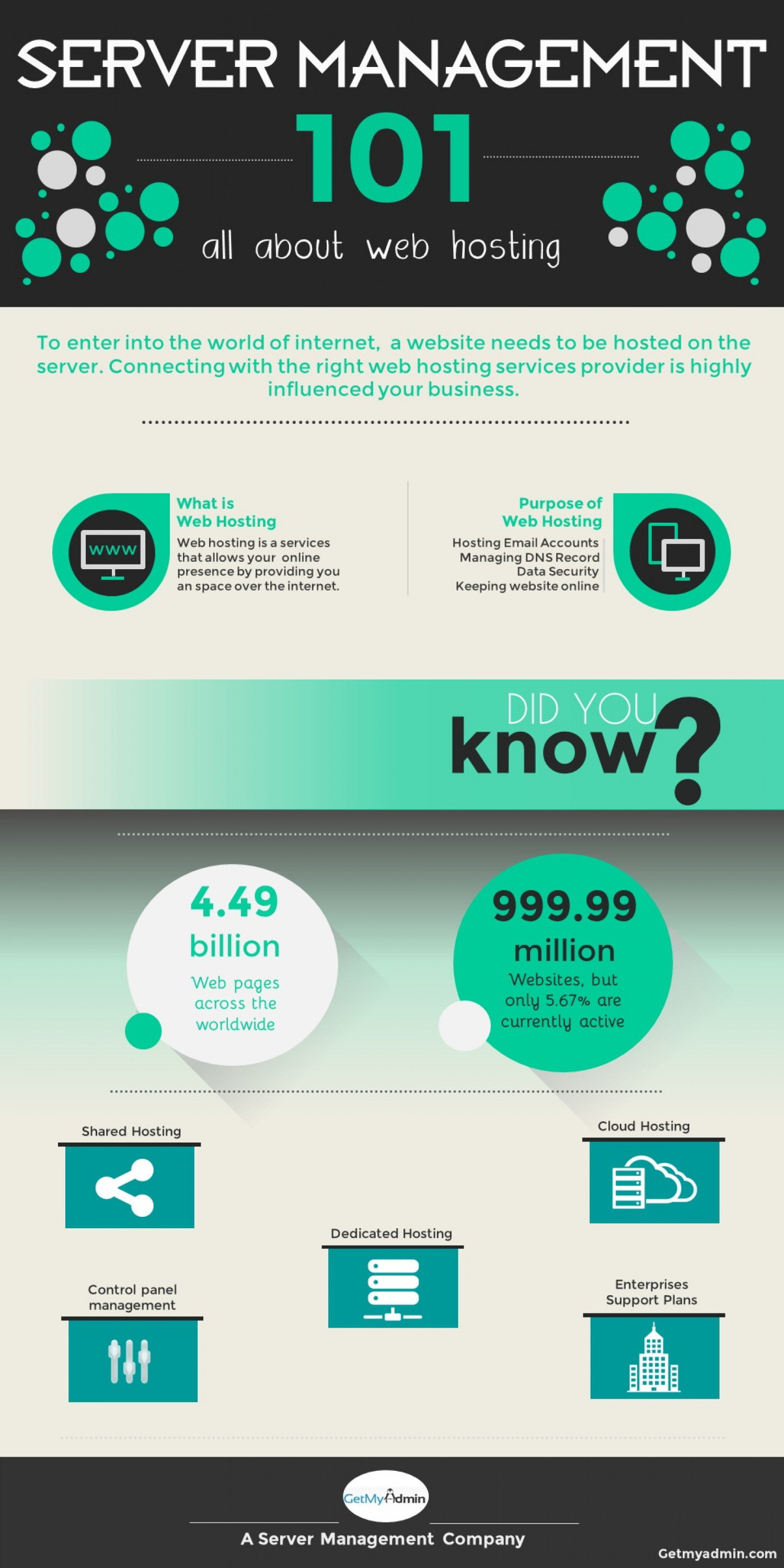 Server Management 101 Infographic