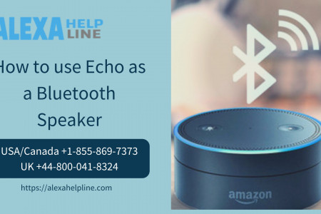 Set Up Echo as a Bluetooth Speaker – Call +1 855-869-7373 Infographic