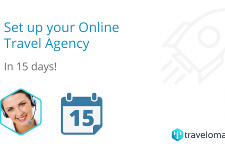 Set up your Online Travel Agency in 15 days! Infographic