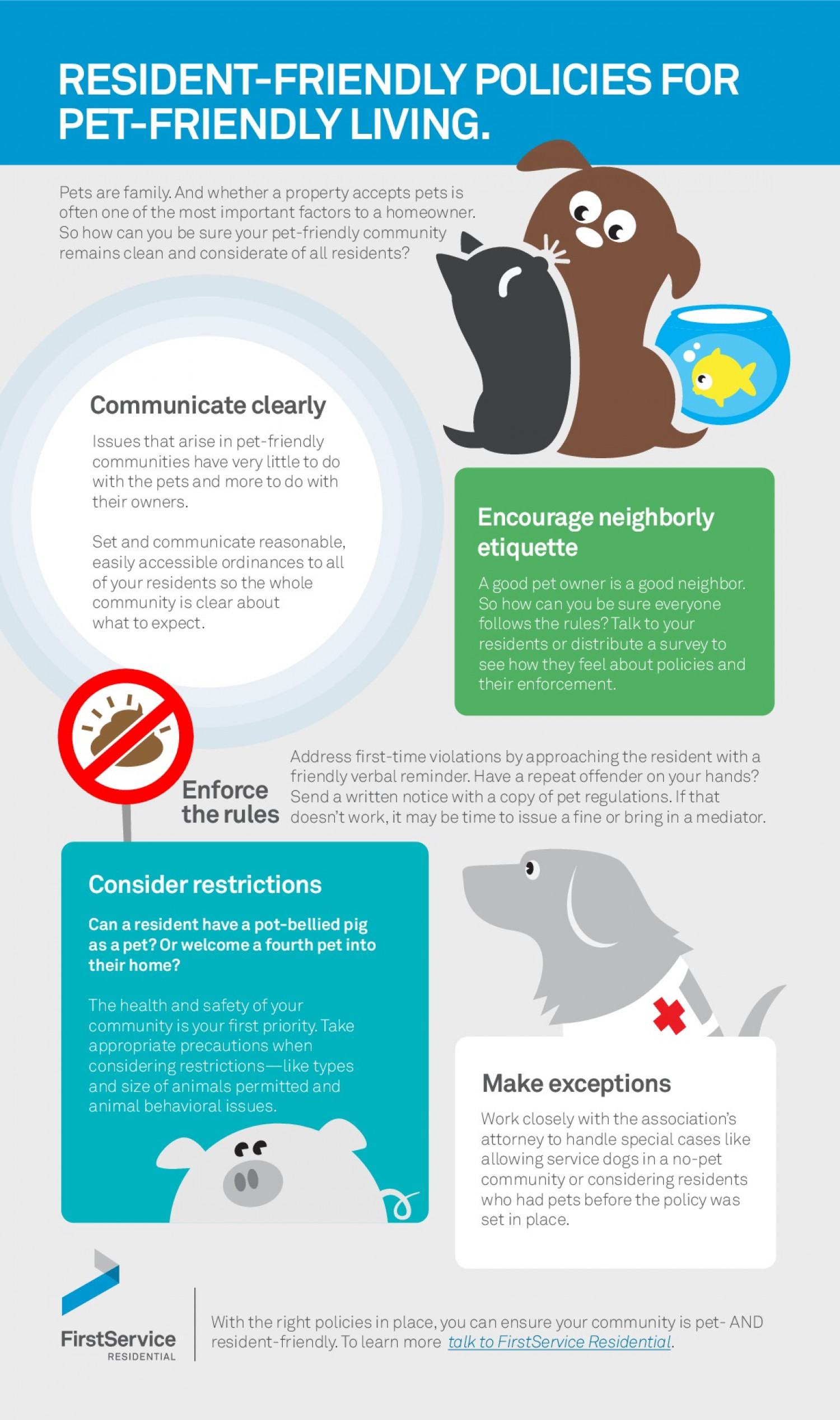 Setting Pet Policies For Your Community Infographic