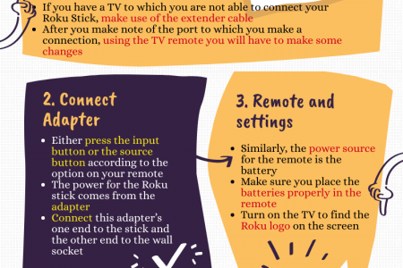 Setting Up a Roku Infographic