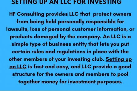 Setting up an LLC for Investing - HF Consulting Infographic