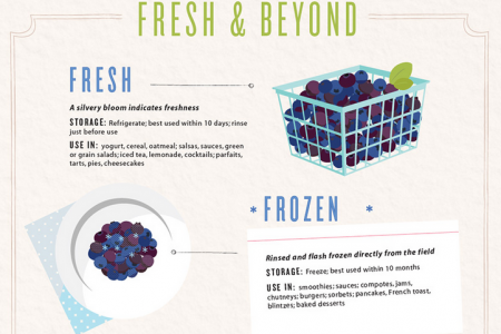 Seven Different Ways to Enjoy Blueberries Infographic