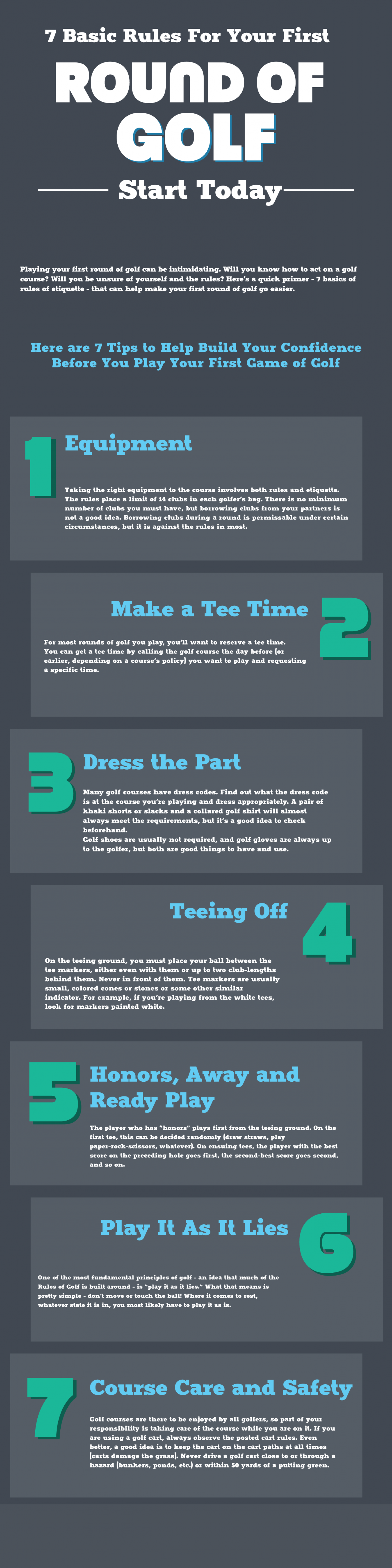 Seven Standard Principles For The First Game of golf Infographic