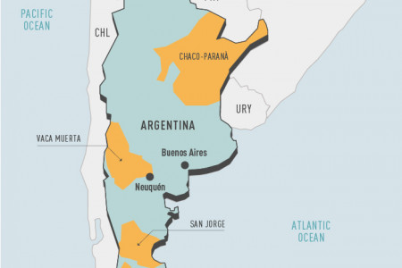 Shale resources in Argentina Infographic